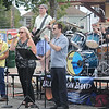 Jim Vaiknoras/staff photo. The Blue Monn Band performs infront of the train station at the Reading Fall Street Faire.