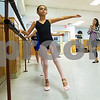 JIM VAIKNORAS/Staff photo Regan Mahoney, 9, of Reading practices in  Kristina Simopouloa ballet class at LaPierre Dance Sudio in Reading.