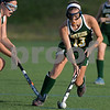 RYAN HUTTON/ Staff photo<br /> North Reading's Chloe Gladu dribbles the ball down field during the September 14 game at the Amesbury Sports Park against Pentucket.