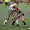 RYAN HUTTON/ Staff photo<br /> North Reading's Cynthia Walsh, right, looks to nab the ball from Pentucket's Emmy Desjardians during the September 14 game at the Amesbury Sports Park.