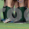 RYAN HUTTON/ Staff photo<br /> The North Reading field hockey teams clack their sticks together in a huddle during the September 14 game at the Amesbury Sports Park against Pentucket.