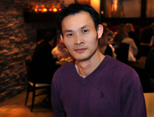 CARL RUSSO/Staff photo. Kevin Ye, owner of Oye, a restaurant in Reading. 1/10/2014.