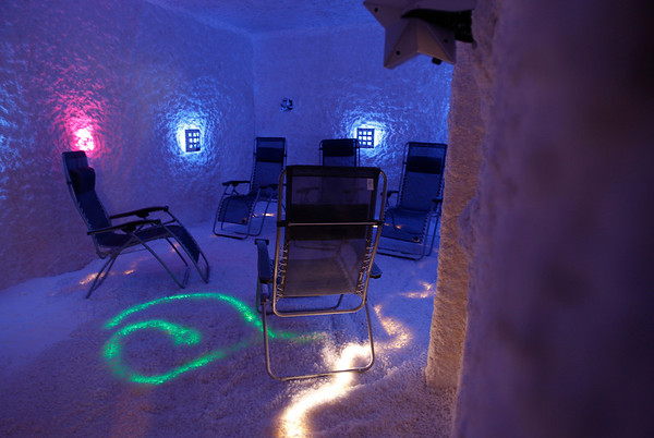 MARY SCHWALM/Staff photo The Salt room/cave at Alantra Spa in North Reading. 12/3/13