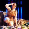 JIM VAIKNORAS/Staff photo Tiger Lily , played by Izzy Rosatone in the North Reading High Production of Peter Pan.