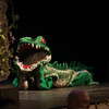 JIM VAIKNORAS/Staff photo The Crocodile played by Alaina in the North Reading High Production of Peter Pan.