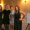(from left) Anastasia Roukliotis of Middleton, Aimee Cullen of Reading, Alexis O'Mara of Reading and Fanoula Eliadis of Reading at the Young Women's Club of Reading annual dinner dance and fundraiser at the Hillview Country Club January 31, 2015.  Photo/Reba Saldanha
