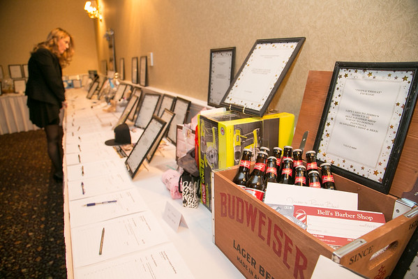 The silent auction at the Young Women's Club of Reading annual dinner dance and fundraiser at the Hillview Country Club January 31, 2015.  Photo/Reba Saldanha
