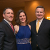 Reading residents (from left) Peter and Erica Lakin and Tom Walsh at the Young Women's Club of Reading annual dinner dance and fundraiser at the Hillview Country Club January 31, 2015.  Photo/Reba Saldanha