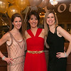 Club president Stefani Walsh, center, with even co-chairs Jennifer Taupier, left, and Shelley Juffre, all of Reading, at the Young Women's Club of Reading annual dinner dance and fundraiser at the Hillview Country Club January 31, 2015.  Photo/Reba Saldanha