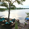 MARY SCHWALM/Staff photo A view from the three-season room in the home of Scott Bechaz overlooking Martin Pond in North Reading. 6/25/14