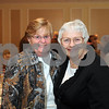 CARL RUSSO/Staff photo. CARL RUSSO/Staff photo. READINGS MAGAZINE: Nancy Graham, left and Maria Silvaggi both of Reading attend the Reading and North Reading's Chamber of Commerce award ceremony at Teresa's Prime Restaurant in North Reading. 4/29/2015