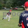 Greg Sawyer plays catch with fellow teammate Marco Vittozzi. Sawyer and Vittozzi were a part of the Youth Baseball Team that traveled to Italy this past summer for a baseball tournament, which the team placed third. Photo by Maria Uminski