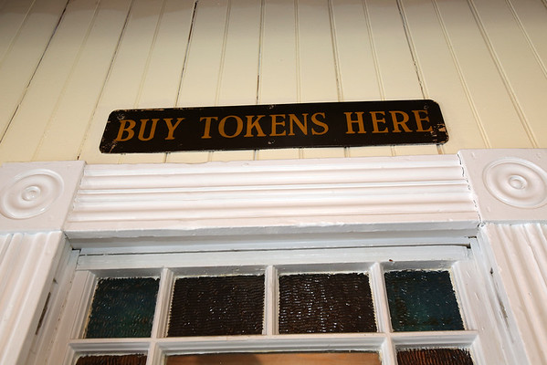 A sign over the original ticket booth at The Century 21 business located in the Reading train depot  at 32 Lincoln St. in Reading.    <br /> KEN YUSZKUS/Staff photo.01/06/15