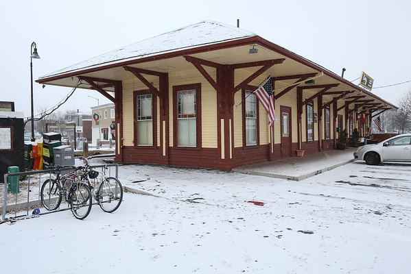 The Reading train depot at 32 Lincoln St. in Reading. KEN YUSZKUS/Staff photo.     01/06/15