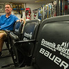 AMANDA SABGA/Staff photo. <br /> <br /> Mark Doherty owner of Dynamik Sports, a small independent sports apparel store in Reading, has been in business since 1984.<br /> <br /> 10/5/17