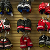 AMANDA SABGA/Staff photo. <br /> <br /> An assortment of hockey gloves available at  Dynamik Sports, a small independent sports apparel store in Reading, has been in business since 1984.<br /> <br /> 9/28/17