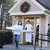 Photo/Reba Saldanha Nick Letizio and wife Pauline shuttle boxes of fresh baked cookies to the town's holiday celebration at AJ Letizio Sales & Marketing's Enterprise Center in Windham, NH Saturday Dec 5, 2015.