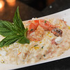 AMANDA SABGA/ Staff photo <br /> <br /> Pan seared shrimp risotto with roasted tomatoes and goat cheese at Joseph's Trattoria and Bakery<br /> <br /> 6/16/16