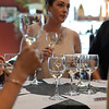 RYAN HUTTON/ Staff photo<br /> A second glass of white awaits patrons of Lucia's Bodega during a mystery blind wine tasting.
