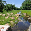 TIM JEAN/Staff photo<br /> The view from the top of the old dam that once held back the water of Moeckel Pond in Windham.  6/21/16