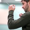 Director Spencer Aston at the Windham Community Band rehearsal at Windham High School Thursday January 8, 2015.  Photo/Reba Saldanha