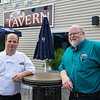 AMANDA SABGA/ Staff photo <br /> <br /> Harry Williams, head chef, and John Kichler, manager, at Red's Tavern in Windham.<br /> 7/14/15