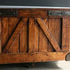AMY SWEENEY/photo.<br /> A miners cart that was from a mill building in Massachusetts was restored by <br /> Richard Leiter, owners of REVIVED Furniture located a 2 Island Pond Road in Derry, sells for $795.