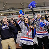 TIM JEAN/Staff photo<br /> Windham's student fans celebrate as their team wins NHIAA Boys D2 State Championship hockey game against Bow 4-3 at the Verizon Wireless Arena in Manchester.   3/19/16