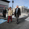 KEN YUSZKUS/Staff photo.   L-r ,  Al Letizio, Kristi St. Laurent, Laura Scott, and Ed Gallagher, walk around MarketStreet in Lynnfield.     1/22/15