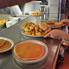 RYAN HUTTON/ Staff photo<br /> Everything from pancakes to chicken fingers are up for order during the lunch rush at Mary Ann's Diner of Windham.