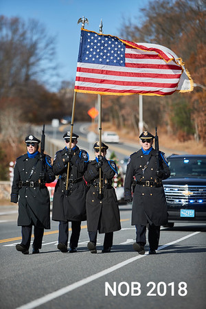 Members of the Sheriff Essex Police along the Beverly Holiday Parade, Sunday, November 26, 2017. Jared Charney / Photo