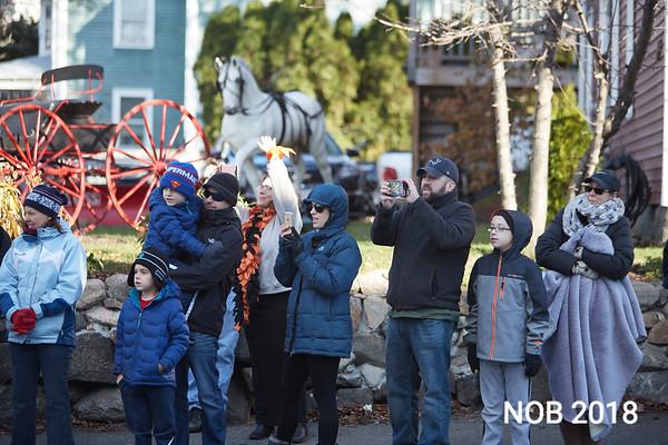 Residents watch the Beverly Holiday Parade, Sunday, November 26, 2017. Jared Charney / Photo