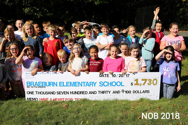 HADLEY GREEN/Staff photo<br /> <br /> Fourth graders at North Beverly Elementary School raised $1,730 to help rebuild a school damaged by Hurricane Harvey in Texas by making and selling bracelets. <br /> <br /> <br /> <br />  10/20/17