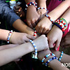 HADLEY GREEN/Staff photo<br /> <br /> Fourth graders at North Beverly Elementary School raised $1,730 to help rebuild a school damaged by Hurricane Harvey in Texas by making and selling bracelets to their classmates.<br /> <br /> <br /> <br />  10/20/17
