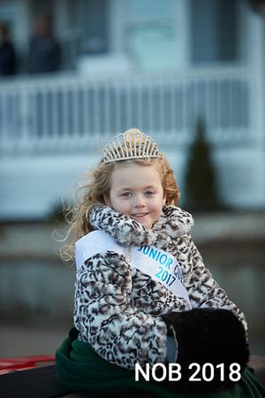 Caitlyn Banfield Junior Queen of the Topsfield Fair in the Beverly Holiday Parade, Sunday, November 26, 2017. Jared Charney / Photo