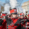 Salem High School marching band play holiday songs during the Beverly Holiday Parade, Sunday, November 26, 2017. Jared Charney / Photo