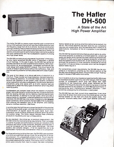 The Hafler DH-500