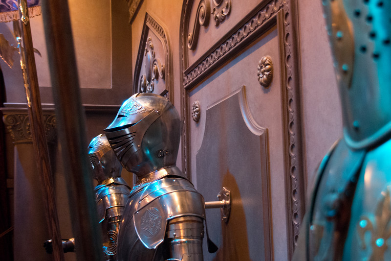 Hall of Armor at Be Our Guest