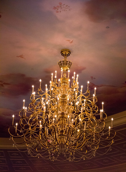 Chandelier at Be Our Guest