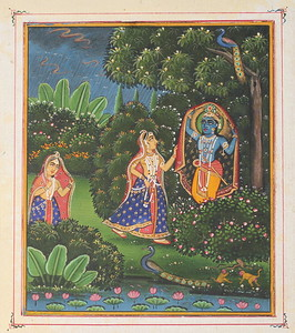 Radha and Krishna in the forest