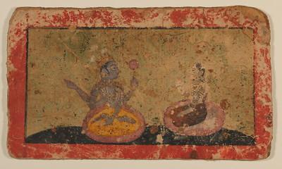 Radha and Krishna with Lotus