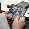 The Leominster and Fitcburg Public Library's held the championship round of their Magic The Gathering tournament on Saturday, Jan. 25, 2020 at the Fitchburg Public Library. The final match for the number one spot was between Chase Pratt-Bouchard, 11, and Sebastian Cordio, 18, both from Leominster. A look at Chase's hand as he tries to decide which card to play. SENTINEL & ENTERPRISE/JOHN LOVE