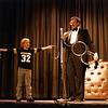 Bob Hale performing the Linking Rings, December 1984, SAM21 fundraiser