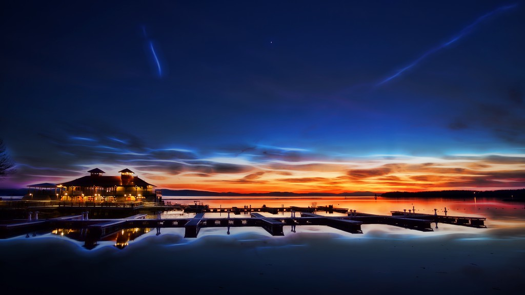Boathouse after Sunset