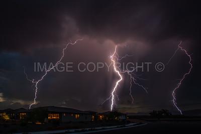 Lightning over Rio Verde, Arizona.
