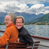 The Michaels on a ferry on Lake Como