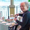 Enjoying tea at the Grand Hotel in Tremezzo