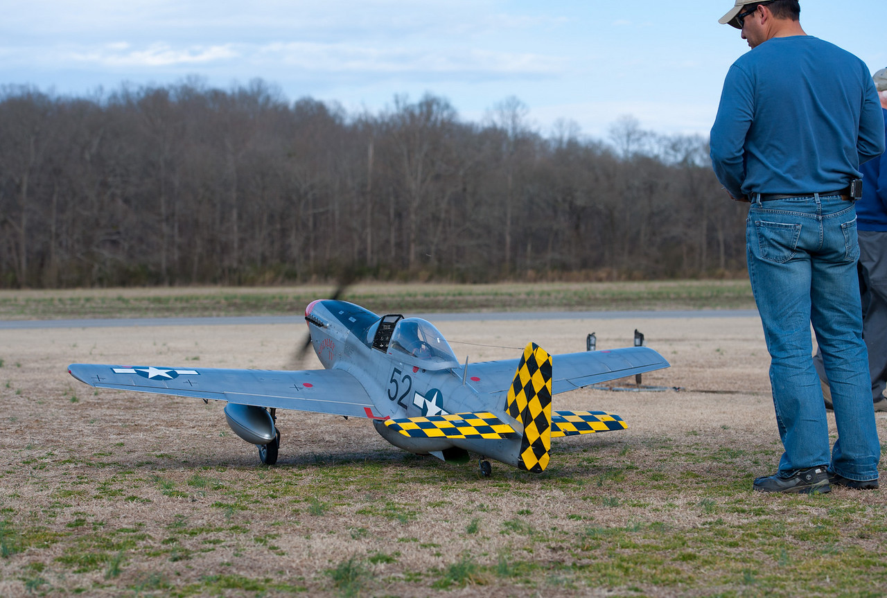 Composite ARF P51 Mustang at Georgia Model Aviators.  Owned by Pedro Sanchez