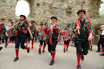 Morris dancing in Odiham Castle