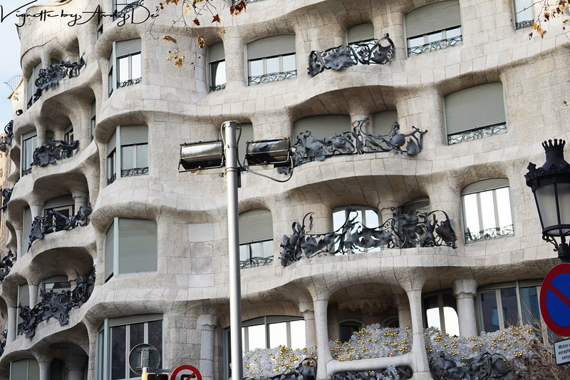 Casa Milà, popularly known as 'LA PEDRERA' (the stone quarry), an ironic allusion to the resemblance of its façade to an open quarry, was constructed between 1906 and 1912 by Antoni Gaudí (1852-1926). For its uniqueness, artistic and heritage value have received major recognition and in 1984 was inscribed on UNESCO World Heritage List, for its exceptional universal value. This is arguably, GAUDIs best known work besides his Magnum Opus, the SAGRADA FAMILIA!<br /> Manage
